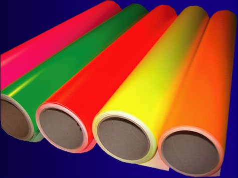Adhesif Couleur Fluo Fluorescente